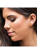 Esmeralda Lambert Amber Sterling Silver Earrings Stud Tear Drop