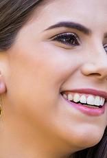Esmeralda Lambert Amber Sterling Silver Earrings Tear Drop Medium