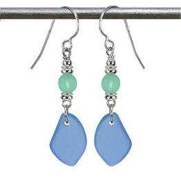 Austin Cake Sun Glass Earrings Ocean Blue