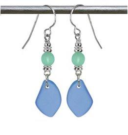 Austin Design Sun Glass Earrings Ocean Blue