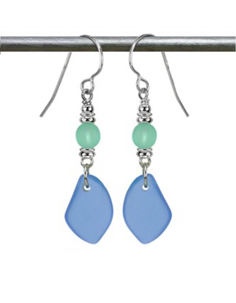 Austin Design Sun Glass Earrings Ocean Blue