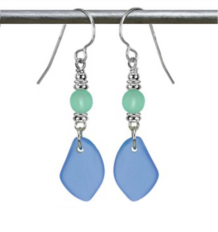 Austin Cake Sun Glass Earrings Ocean Blue