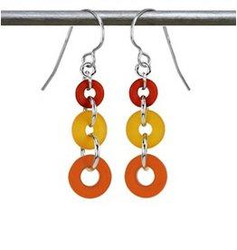 Austin Design Earrings Rings Things Orange Yellow
