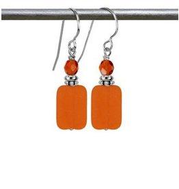 Austin Design Earrings Geo Orange