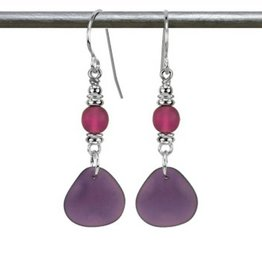 Austin Cake Sun Glass Earrings Deep Purple