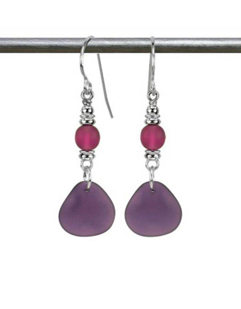 Austin Design Sun Glass Earrings Deep Purple