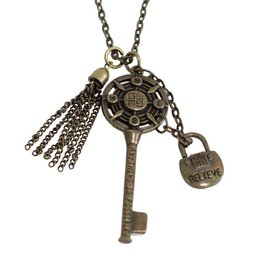 Good Work Anything is Possible Key Necklace