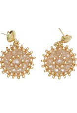 Esmeralda Lambert Gold Crystal Handwoven Earrings