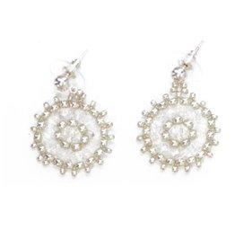 Esmeralda Lambert Silver Crystal Handwoven Earrings