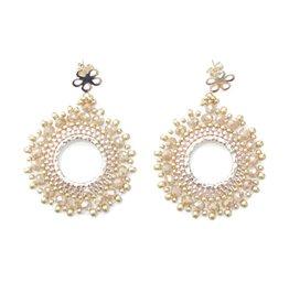 Esmeralda Lambert Lynda - Gold Crystal GF Handwoven Earring