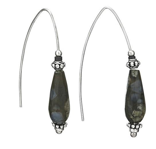 Steven + Clea Jasper Drop Sterling Silver Earrings