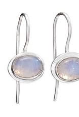 Steven + Clea Rainbow Moonstone Sterling Silver Earring