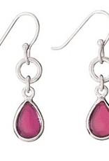 Steven + Clea Teardrop Garnet Sterling Silver Earrings