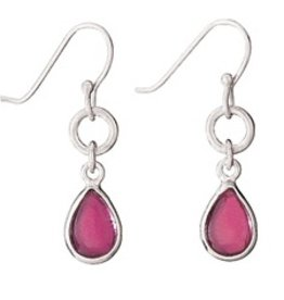 Steven + Clea Teardrop Garnet Sterling Silver Earrings