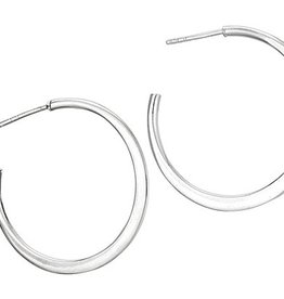 Steven + Clea Basic Hoop Sterling Silver Post Earring