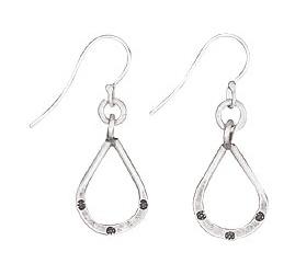 Steven + Clea Teardrop Stamped Sterling Silver Earring