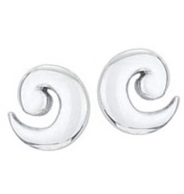 Steven + Clea Wave Sterling Silver Stud Earrings