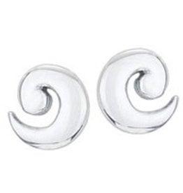 Steven + Clea Wave Sterling Silver Stud Earrings