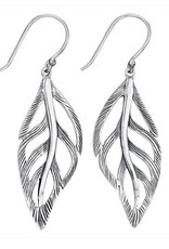 Steven + Clea Flowing Leaf Sterling Silver Earring