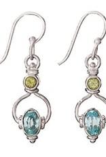 Steven + Clea Peridot Blue Topaz Sterling Silver Earring