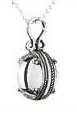 Steven + Clea Crystal Ball Sterling Silver Pendant