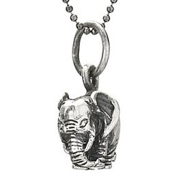 Steven + Clea Elephant Sterling Silver Pendant Necklace