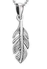 Steven + Clea Feather Sterling Silver Pendant Necklace