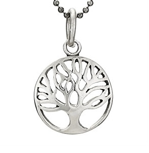 Steven + Clea Small Round Tree Sterling Silver Pendant Necklace