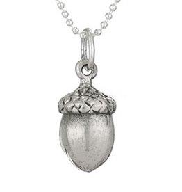 Steven + Clea Acorn Sterling Silver Pendant Necklace