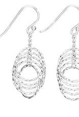 Steven + Clea Rings Upon Rings Sterling Silver Earrings