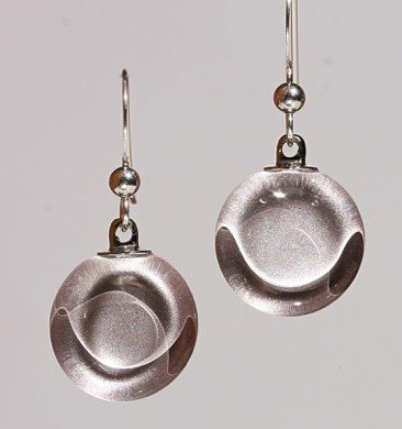 Bryce + Paola Petite Circle Sola WARM SILVER Earrings