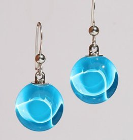 Bryce + Paola Petite Circ. Sola AZURE BLUE Earrings