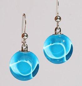 Bryce + Paola Petite Circ. Sola AZURE BLUE Earrings