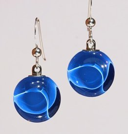 Bryce + Paola Petite Circle Sola LAPIS Earrings