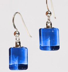 Bryce + Paola Tiny Sq. Sola LAPIS Earrings