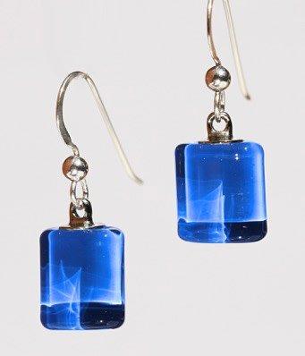 Bryce + Paola Tiny Sq. Sola LAPIS Earrings
