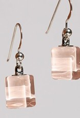 Bryce + Paola Tiny Sq. Sola PEARLY PINK Earrings