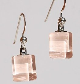 Bryce + Paola Tiny Sq. Sola PEARL PINK Earrings