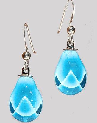 Bryce + Paola Mini Teardrop Sola AZURE BLUE Earring