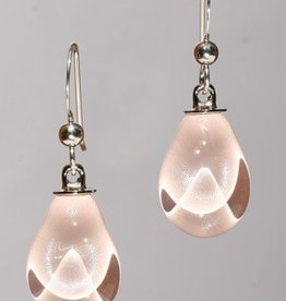 Bryce + Paola Mini Teardrop Sola PEARLY PINK Earring