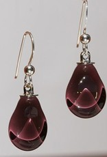 Bryce + Paola Mini Teardrop Sola PLUM Earring