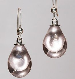 Bryce + Paola Mini Teardrop Sola WARM SILVER Earring