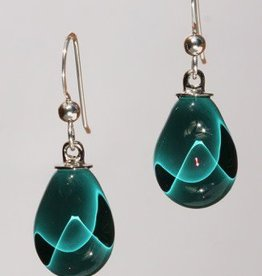Bryce + Paola Mini Teardrop Sola PEACOCK Earring