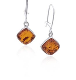 Baltic Amber Amber Honey Small Diamond Earrings