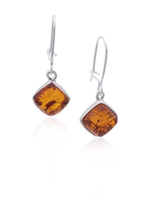 Baltic Amber Amber Honey Small Diamond Earrings