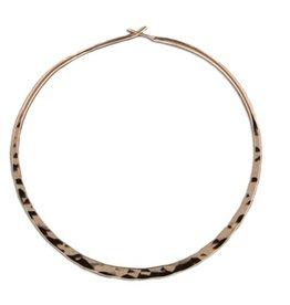 Rose Gold Filled Hammered Hoop Earring 48mm