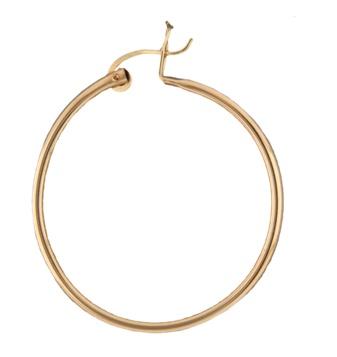Mark Steel Hollow Hoop Earring 40mm Gold Filled