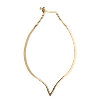 Mark Steel Leaf Hoop Earring Gold Filled