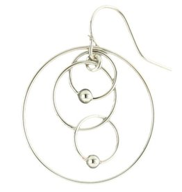 Mark Steel Double Ball Melt Gold Filled Earring