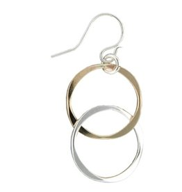 Mark Steel Married Link Earring Mixed Metal
